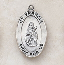 Creed SS927-18 Sterling St. Francis Patron Saint Medal