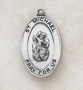 Creed SS927-39 Sterling St. Michael Patron Saint Medal