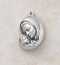 Creed SS9519 Sterling Madonna and Child Patron Saint Medal
