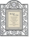 Heartfelt TC803 The Gift Of A Sister James 1:17 Table Clock