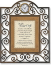 Heartfelt TC811 For Our Pastor'S Wife Proverbs 31:10-12 Table Clock