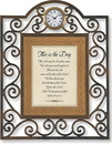 Heartfelt TC824 This Is The Day Psalm 118:24, 26-27 Table Clock