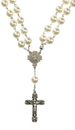 Christian Brands VC662 Ivory Mother's Pearls Necklace