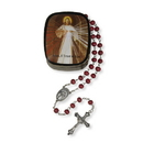 Christian Brands VC797 Sacred Heart Rose Petal Rosary
