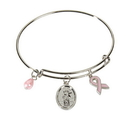 Christian Brands WC542 Saint Agatha Bangle Charm Bracelet