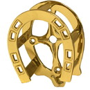 Intrepid International Brass Double Horseshoe Bridle Rack