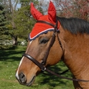 Intrepid International All Crochet Fly Veil with Ears Horse Size