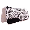 Intrepid International Maxtra Foam Contour Fleece Western Pad Zebra Print