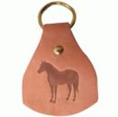 Intrepid International Leather Stamped Quarter Horse Key Fobs