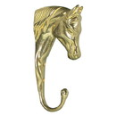 Intrepid International Solid Brass 3-D Horse Head Hook