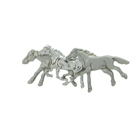 Exselle 246098 Three Horse Stock Pin