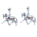 Intrepid International Dressage Horse Earrings