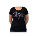 Intrepid International 2K906 2Kgrey Ladies Logo Tee Shirt Black