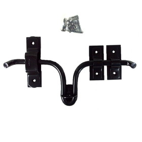 "Barn Door Latch 10"" W/Plate-Powder Coated"