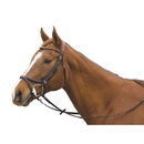 Intrepid International AEBD6149 Exselle Elite Plain Raised Jumper Bridle With X Brow Dk Brown