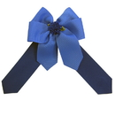 Intrepid International Ellie's Bow Royal Blue and Navy
