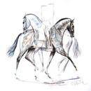 Jan Kunster Horse Prints - Pas de Deux (Dressage)