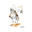 Haddington Green Equestrian Art Jan Kunster Horse Prints - Cordoba (Andalusian)