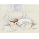 Corinium Fine Art Dog Prints - Terrier in a Basket