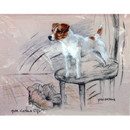 Corinium Fine Art Dog Prints - Terrier Standing on a Chair
