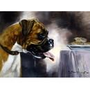 Sally Mitchell Fine Art Dog Prints - Temptation