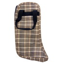 High Spirit Lined English Boot Bag Horsemans Plaid