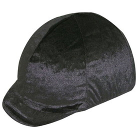 Equestrian Helmets HZ1500 Velvet Stretch Helmet Cover - Soft Peak