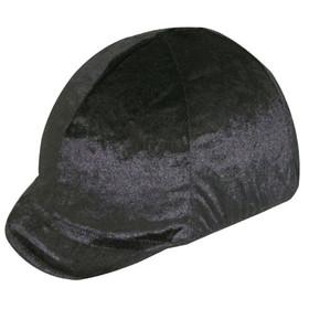 Equestrian Helmets HZ1500 Velvet Stretch Helmet Cover - Soft Peak