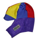Equestrian Helmets Winter Helmet Cover Purple with Yellow and Red