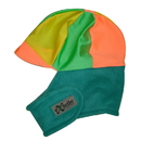 Equestrian Helmets Winter Helmet Cover Teal with Orange and Yellow