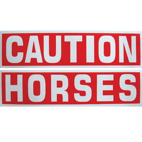 Intrepid International SK5000 CAUTION HORSES Reflective Sticker