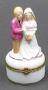 IWGAC 01-37308 Wedding Couple on Mini Trinket Box