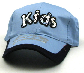 IWGAC 0126-2349 Two Tone Blue Kids Cap