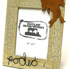 IWGAC 0126S-11533A Cowboy Rodeo Natural Picture Frame