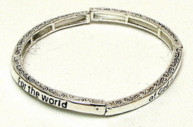 IWGAC 015-2740 Stackable Stretch Bangle-For The World