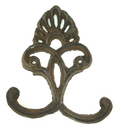 IWGAC 0170S-01555 Cast Iron Crown Hooks Set of 6 Rust