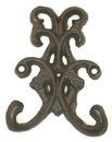 IWGAC 0170S-01556 Set of 6 Rust Double Floral Hooks