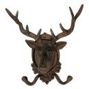 IWGAC 0170S-01648 Cast Iron Elk Deer Head Wall Hook