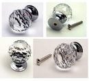 IWGAC 0170S-1130C Large Rounded Crystal Glass Drawer Pull Clear