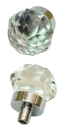 IWGAC 0170S-HO35C SMALL Clear Solid Crystal Glass DrawerDoor Pull
