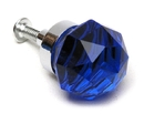 IWGAC 0170S-HO35D SMALL Dark Blue Solid Crystal Glass DrawerDoor Pull