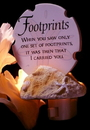 IWGAC 0183-73857 Footprints Poem Night Light
