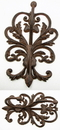 IWGAC 0184S-0331A Large Elegant Cast Iron Wall Double Hook