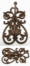 IWGAC 0184S-0331B French Scroll Cast Iron Wall Double Hook