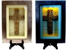 IWGAC 0193-0775 Spiritual Harvest Celtic Cross Lighted Shadow Box