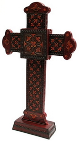 IWGAC 0193-0780 Spiritual Harvest Standing Cross w Prayer Box