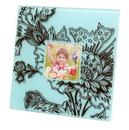 IWGAC 0193-36437 Velvet Square Frame - Blue
