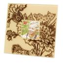 IWGAC 0193-36438 Velvet Square Frame - Faint Pink