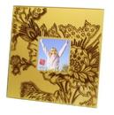 IWGAC 0193-36439 Velvet Square Frame - Gold