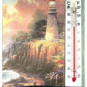 IWGAC 0193-636405 Thomas Kinkade Light of Peace Thermometer